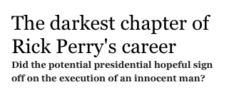 The darkest chapter of Rick Perry's career